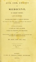 view On medicine in eight books, Latin and English