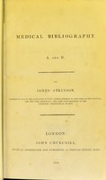 view Medical bibliography : A. and B.