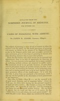 view Cases of poisoning with arsenic / by James M. Adams.