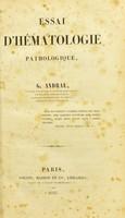 view Essai d'hématologie pathologique / G. Andral.