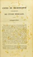 view Cours de microscopie complémentaire des études médicales : anatomie microscopique et physiologie des fluides de l'économie.