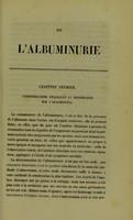 view De l'albuminurie : thése présentée au concours pour l'agrégation (Section de Médecine et de Médecine de Paris) et soutenue a la Faculté de Médecine de Paris / par Paul Lorain.