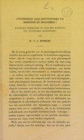 view Ontspringen alle zenuwbuisjes uit hersenen en ruggemerg? : historisch onderzocht en naar het standpunt der wetenschap beantwoord / door Dr. F.C. Donders.