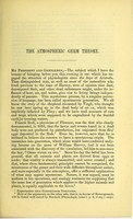 view On the atmospheric germ theory and origin of infusoria : a lecture delivered to the Royal College of Surgeons of Edinburgh, 17th January 1868.