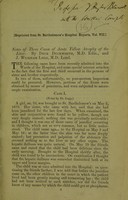 view Notes of three cases of acute yellow atrophy of the liver / by Dyce Duckworth, M.D. and J. Wickham Legg, M.D.