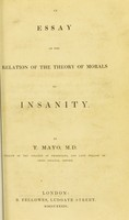 view An essay on the relation of the theory of morals to insanity