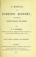 view A manual of domestic economy : with hints on domestic medicine and surgery