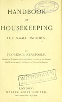view Handbook of housekeeping for small incomes