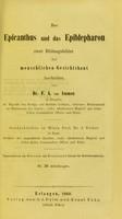 view Der Epicanthus und das Epiblepharon / von Dr. F. A. v. Ammon.
