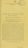 view Constitutional conditions combined with ametropia the cause of asthenopia / by D. B. St. John Roosa.