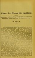 view Ueber die Blepharitis papillaris und ihre Beziehungen zu Entzündungen der Bindehaut, zur Keratitis superficialis und zu den tiefen Hornhautgeschwüren / von W. Goldzieher.