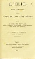 view L'oeil : notions élémentaires sur la fonction de la vue et ses anomalies / par le Dr. Giraud-Teulon.