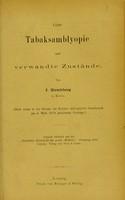 view Ueber Tabaksamblyopie und verwandte Zustände / von J. Hirschberg.