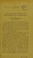 view Ueber das geeigenetste Verfahren der Kapseleröffnung behufs Staarentfernung / von Dr. Bol. Wicherkiewicz.