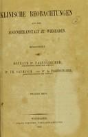 view Klinische Beobachtungen aus der Augenheilanstalt zu Wiesbaden / mitgetheilt von Hofrath Dr. Pagenstecher, Dr. Th. Saemisch und Dr. A. Pagenstecher.