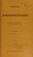 view Einführung in die Augenheilkunde / von J. Hirschberg.
