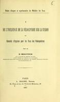 view De l'influence de la vélocipédie sur la vision et conseils d'hygiène pour les yeux des vélocipédistes / par le Dr. Mirovitch.