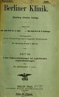 view Ueber Gefässveränderungen bei syphilitischen Augenerkrankungen / von Dr. Alexander.