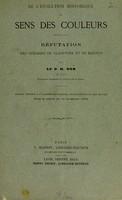 view De l'évolution historique du sens des couleurs : réfutation des theories de Gladstone et de Magnus / par le Dr. H. Dor.