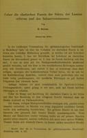 view Ueber die elastischen Fasern der Sclera, der Lamina cribrosa und des Sehnervenstammes / von H. Sattler.
