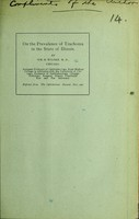 view On the prevalence of trachoma in the state of Illinois / by Wm. H. Wilder.