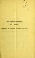 view Ueber Glaskörperoperationen / von J. Hirschberg.