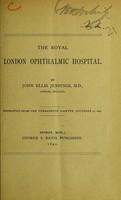 view The Royal London Ophthalmic Hospital / by John Ellis Jennings.