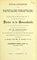 view Netvlies-Aandoeningen bij naphtaline-vergiftiging : proefschrift ter verkrijging van den graad van Doctor in de Geneeskunde aan de Rijks-Universiteit te Utrecht / door Herman Snellen.