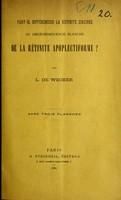 view Faut-il différencier la rétinite circinée ou dégénéescence blanches de la rétinite apoplectiforme? / par L. de Wecker.