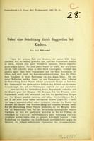 view Ueber eine Sehstärung durch Suggestion bei Kindern / von Prof. Schnabel.