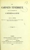 view Des cabinets ténébreux dans le traitement de l'héméralopie / par A. Netter.