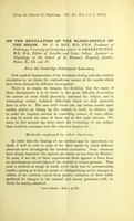 view On the regulation of the blood-supply of the brain / by C. S. Roy and C. S. Sherrington.