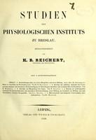 view Studien des Physiologischen Instituts zu Breslau / herausgegeben von K. B. Reichert.