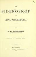 view Das Sideroskop und seine Anwendung / von Julius Andreae.