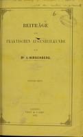 view Beiträge zur praktischen Augenheilkunde / von J. Hirschberg.