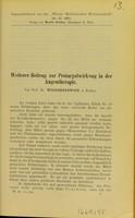 view Weiterer Beitrag zur Protargolwirkung in der Augentherapie / von Prof. Dr. Wicherkiewicz.