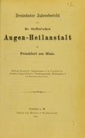 view Dreizehnter Jahresbericht der Dr. Steffan'sche Augen-Heilanstalt in Frankfurt am Main.