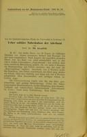 view Ueber solitäire Tuberkulose der Aderhaut / von Th. Axenfeld.