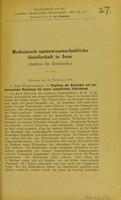 view Medinzinisch-naturwissenschaftliche Gesellschaft in Jena : (Sektion für Heilkunde) Sitzung am 14 Februar 1907.