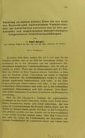 view Nachtrag zu meiner Arbeit : Über die mit Hilfe des Stereoskopes nach weisbare Verschiedenheit der Lokalisation zwischen den in den gekreuzten und ungekreuzten Sehnervenfasern fortgeleiteten Gesichtsempfindungen / von Emil Berger.