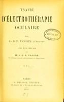 view Traité d'électrothérapie oculaire / par P. Pansier ; avec une préface de E. Valude.