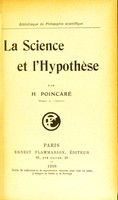 view La science et l'hypothèse / par H. Poincaré.
