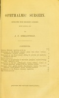 view Ophthalmic surgery / by J. F. Streatfield.