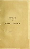 view Beiträge zur Ophthalmologie / von Johan Widmark.