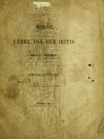 view Beiträge zur Lehre von der Iritis / von Graf C. J. v. Wollowicz.
