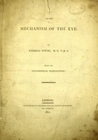view On the mechanism of the eye / by Thomas Young.