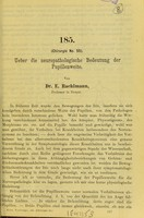 view Ueber die neuropathologische Bedeutung der Pupillenweite / E. Raehlmann.