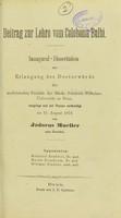 view Beitrag zur Lehre vom Coloboma bulbi : inaugural-Dissertation zur Erlangung der Doctorwürde / von Jodocus Mueller.