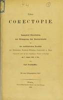 view Ueber Correctopie : inaugural-Dissertation zur Erlangung der Doctorwürde / von Otto Durlach.