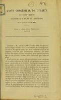 view Kyste congénital de l'orbite microphtalmie colobome de l'iris et de la choroide / par H. Dor.